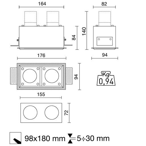 Intérieur Produits Encastré Micro ScSide Spa Carré Matrix QCxsdrht